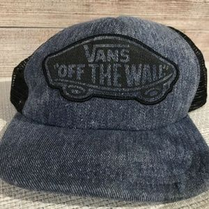 VANS Off the Wall Denim Snapback Trucker Hat